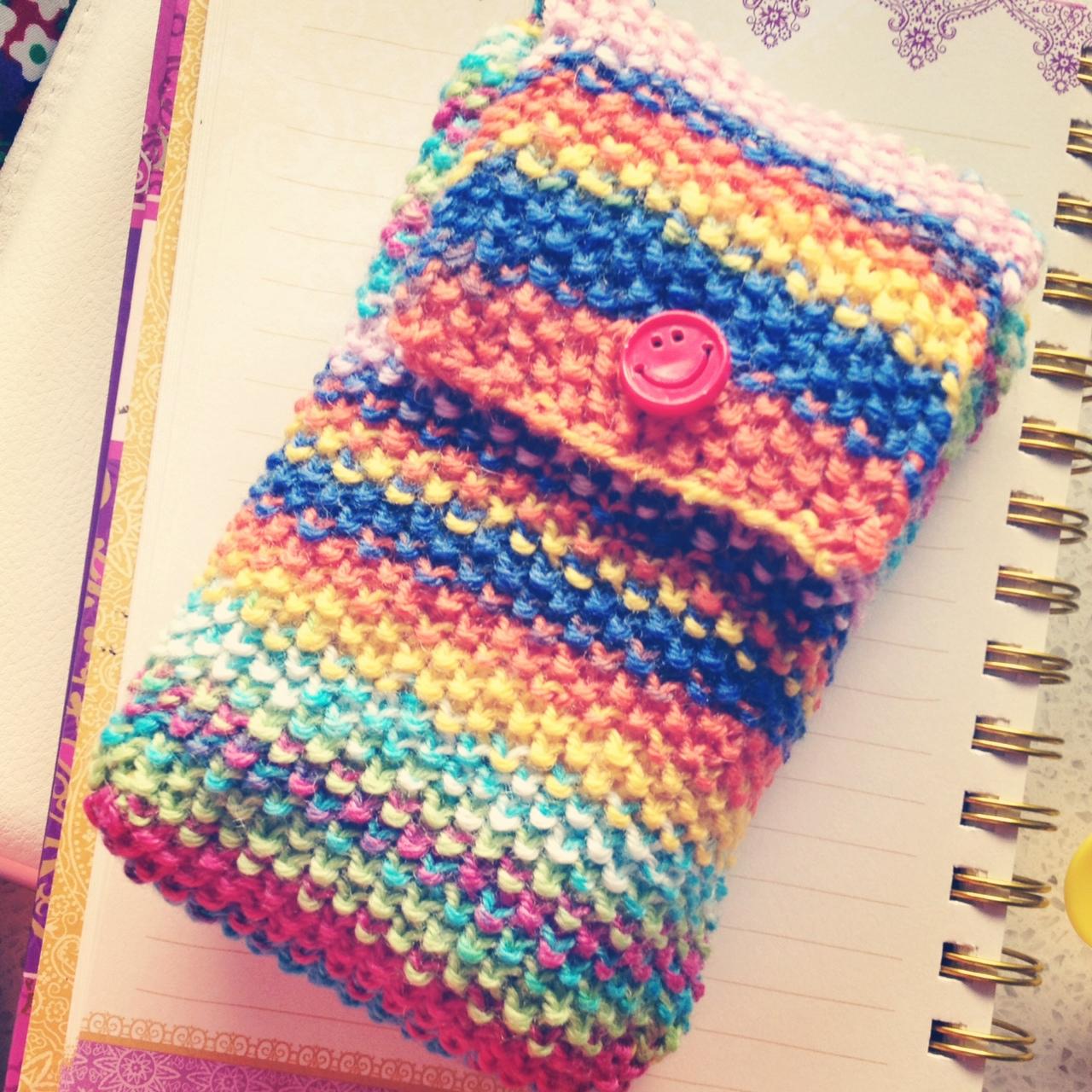 Knit Pattern Tarot Bag : Pennys knitted tarot bag